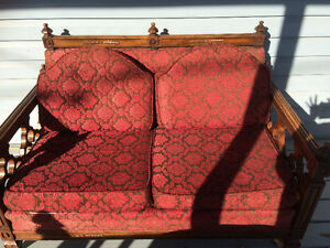 Antique Red and Black Couches