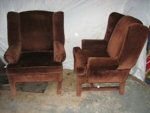 Two Matching High Back Chairs