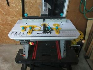 Ryobi Sliding Saw and Wolfcraft Router Table - $40 each