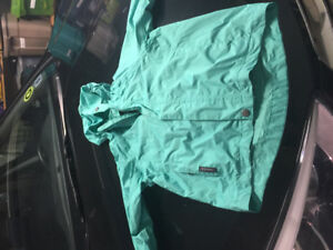Girls light wind jacket great for camping