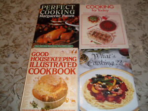 4 HARD COVER COOKING BOOKS, PERFECT FOR THE CHEF IN YOUR FAMILY