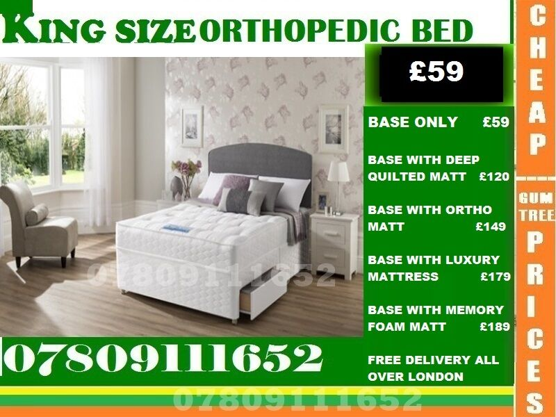 Brand New Double Single King Size Small Double Base Orthopedic Base Frame Beddingin Bromley, LondonGumtree - IMPRESSIVE OFFER....EXTREME Quality Furniture like Divan and Leather Base available contact us