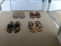 NEW 4 PAIRS OF SANDALS SIZE 5 & 6