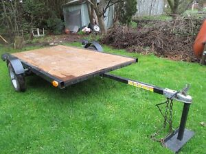 4.5 feet by 8 feet Flat Utility Trailer For Sale