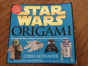 STAR WARS ORIGAMI BOOK - USED BUT IN GREAT CONDITION