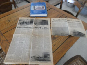 Vintage tottenham area history book and articles