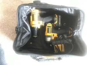 Almost new 12 v dewalt impact driver and drill combo
