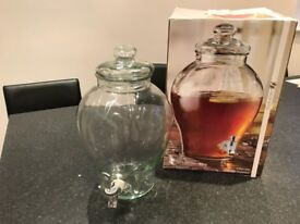 Solid glass drinks dispenser 6l in box