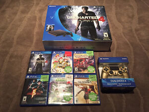 PlayStation 4 Slim 500GB (2 Controllers & 6 Games) 99% New