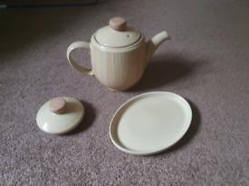 Denby Caramel Stripe Teapot
