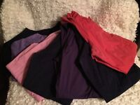 Lot of scrubs including pants and shirts
