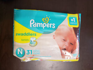 Pampers Swaddlers Newborn 31 Diapers ($10, Bought for $15)...