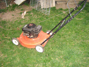 lawnmower runs well needs a throttle cable  could use a wipe dow