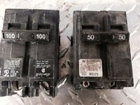 Disjoncteurs de marque Siemens/ITE 60A&100A 2P