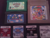 Gameboy colour, Gameboy advanced and nintendo ds games