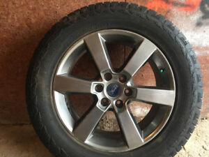 """Four 20"""" Rims from a new 2017 Ford F150."""