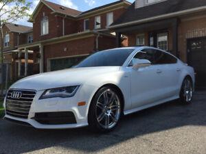 Audi A7 S Line White on Brown Leather