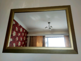 Mirror Gold Gilded colour antique stylish simple look