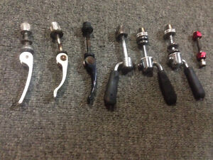 Bicycle seat post quick release skewers alloy & steel