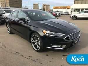 "2017 Ford Fusion Titanium  Moonroof, Heat/Cool Seats,Nav, 19"" Wh"