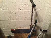 Blue micro three wheeled scooter