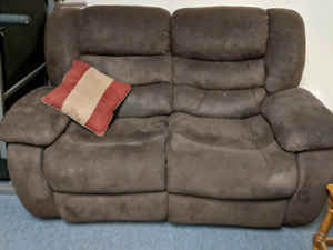 Comfortable brown couch