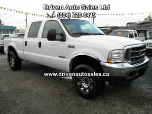 2004 Ford F-250 Lariat Leather Diesel F-350 Crew Cab 4x4 Low km