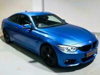 BMW 4 SERIES 420D M SPORT AUTO ESTORIL BLUE COUPE 2 DOOR DIESEL 2013 F32 F30