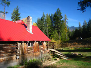 LOg Cabin and acreage for sale south of Kaslo
