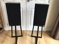 Castle Warwick speakers and trestle stands