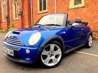 **LOW MILES** 2006 MINI COOPER S CONVERTIBLE 1.6 PETROL SUPERCHARGED BLUE 3 DOOR