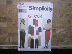 Women's Simplicity 2-Hr EASY Straight Skirt Pants Sewing Pattern