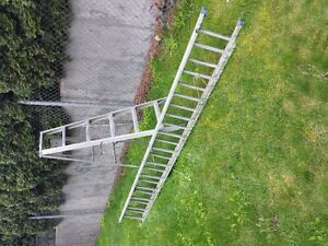 Aluminum 6' stepladder and 24' extension ladder
