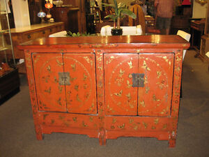 GORGEOUS PAINTED ASIAN CABINET AT CHARMAINE'S