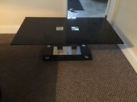 Black & Silver Tempered Glass Coffee Table