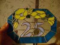 stained glass house number 25