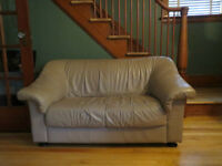 Condo Sized Leather Loveseat