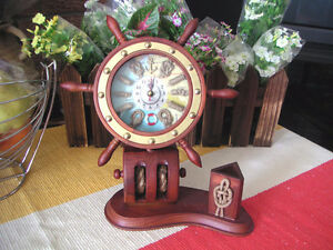 New wood made clock with box