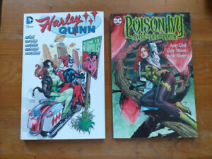Harley Quinn and Poison Ivy DC Comics trade paperbacks TPB