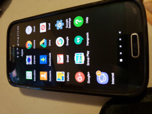 Samsung Galaxy S4 unlocked with Extended battery and case