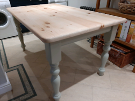 Refurbished solid pine farmhouse table