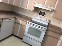 Update your old countertops. remove and install new countertops