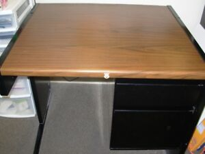 Desk with lockable drawers
