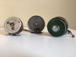 3 Vintage Fly Fishing Reels | 2 Automatic & 1 Standard | Shippin