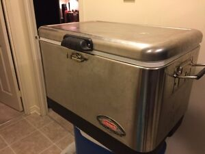 Stainless Coleman cooler