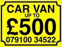 079100 345 22 SELL YOUR CAR VAN FOR CASH BUY MY TODAY SCRAP WANTED J