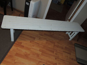 White ANGSO Ikea Bench