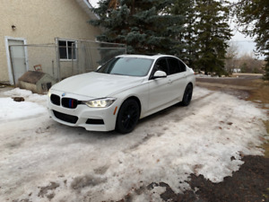 2013 BMW 335i - M Package, White on Red