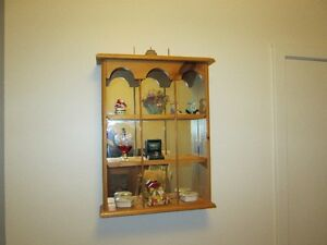 MIRRORED WALL SHELF (SOLID PINE)