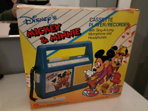 Vintage Mickey and Minnie cassette recorder!